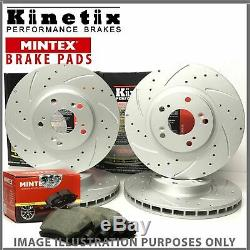 63y For Seat Leon Cupra R Tfsi 09-11 Grooved Front Rear Discs Pads